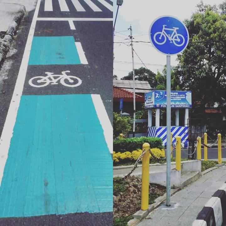 Jalur Sepeda di Kota Ciamis